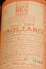 More details on Paolo Bea's awesome Sagrantino - how's your Italian?