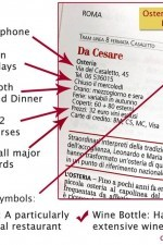 It's easy to read an Osterie d'Italia entry, this one for Da Cesare in Rome.