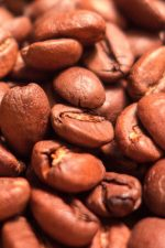 Freshly roasted coffee beans from Tazza d'Oro in Rome