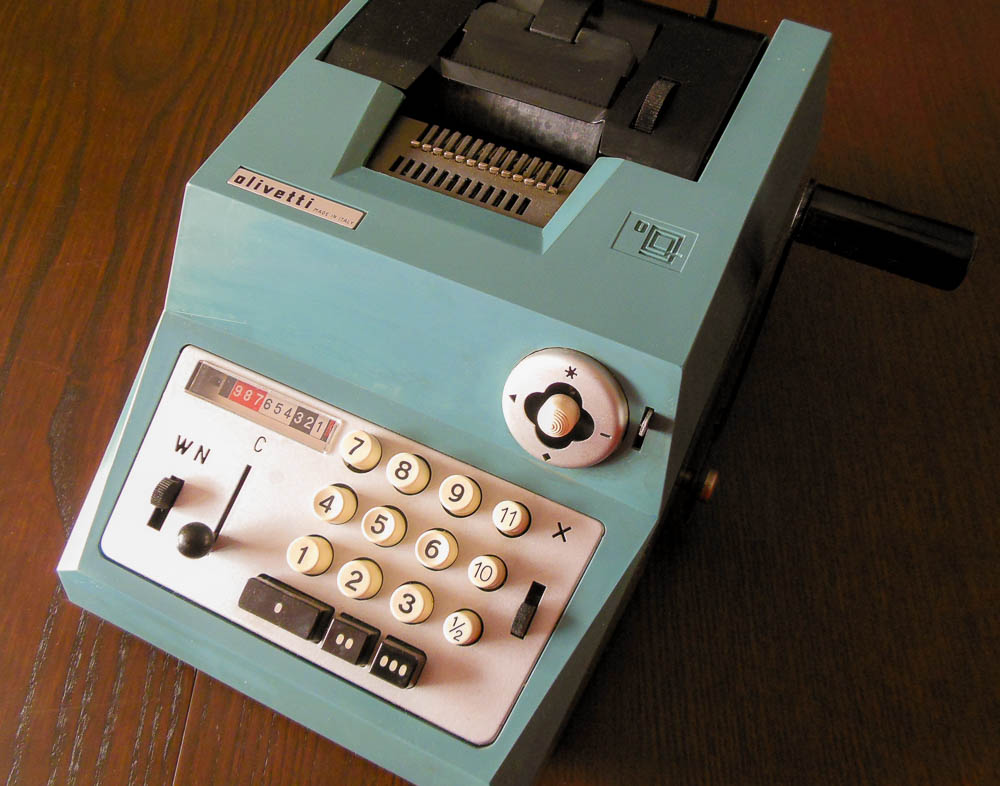 Time to do the math, old style...just like the 3-Tier system. (That's an Olivetti Summa Prima adding machine)