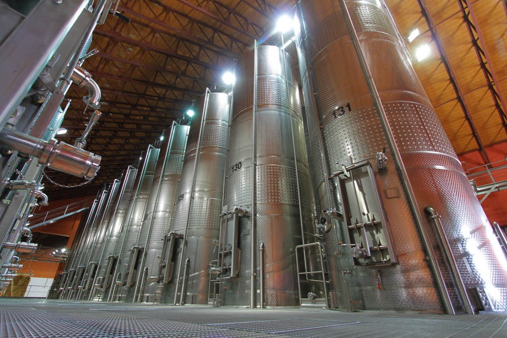 Here's what industrial winemaking looks like: Junk wine making at its most efficient