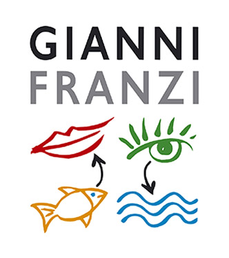 Beloved Trattoria Gianni Franzi in Vernazza -- great logo, eh?