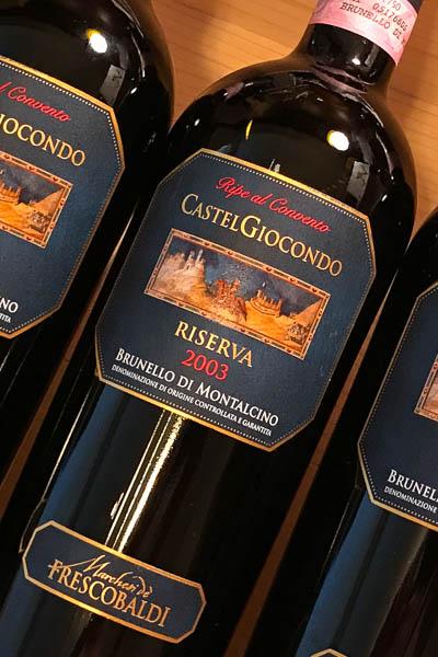 Frescobaldi Castelgiocondo Brunello di Montalcino Riserva Ripe al Convento 2003